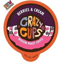 Crazy Cups Flavored Coffee for Keurig K-Cup Machines, Berries & Cream, H... - $65.99