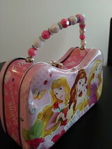 "Disney ""I am a Royal Friend"" Tin Purse/Lunch Beaded Handle 2015  Tin Purse image 3"