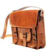 "New Men 11"" Unisex Formal Rustic Soft Leather Travel Brown Laptop Messen... - $82.28"