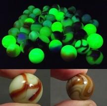 Akro Agate UV marble lot ESTATE SALE Peltier vintage Ultraviolet 46 TOTA... - $135.56