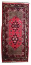 Hand made vintage Algerian Berber rug 3.3' x 7' ( 101cm x 215cm ) 1970s ... - $815.00