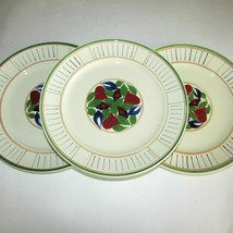ADAMS TITIAN WARE ANTIQUE DINNER PLATES ROYAL IVORY 3 HAND PAINTED FLOWE... - $49.99