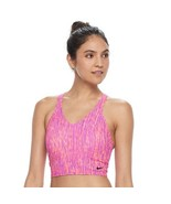 Women's Nike Racerback Midkini Top sz s pink new nwt swimsuit top - $26.08