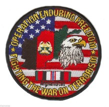 """Afghanistan Oef Operation Enduring Freedom Ribbon 4"""" Military Patch Flag Eagle - $18.04"""