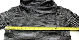 R&K Originals sz M Cowl Neck Sweater Dress Full Skirt Black White Variegated image 3
