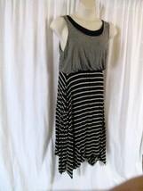 Style&Co Dress L Stripes Multi Color Midi Sleeveless Scoop Neck - $13.37