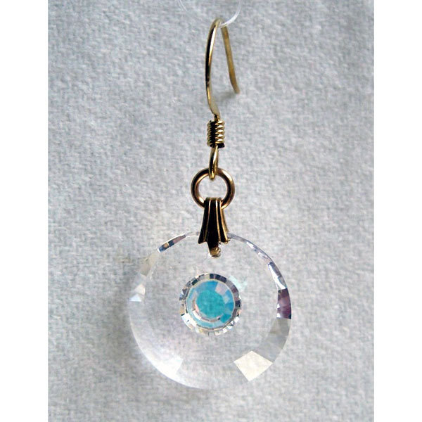 Clear Enhanced Crescent Earrings