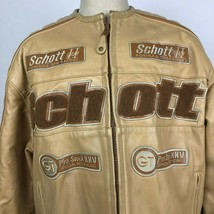 VTG Schott Cam II Formula One Racing GT Pro Stock Leather Jacket Sz 2XL ... - $252.44