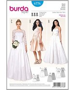 6776 Burda Wedding Dress Sewing Pattern Sizes 8-18 - $16.66