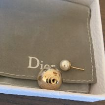 Pre-owned Authentic Christian Dior Petal Mise En Dior Tribal Pearl Earrings  image 5