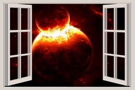 Space Galaxy Black Hole NASA Universe Planet Moon Earth Star Window View 7 - $9.29 CAD+
