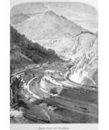 MAUCH CHUNK & Mount Pisgah Pennsylvania - 1883 German Print - $21.60