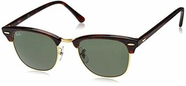 Ray-Ban, Clubmaster Sunglasses, Non-Polarized, Acetate Frame, Glass Lenses - $235.62