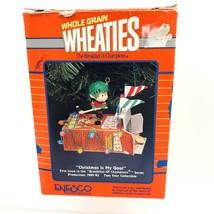 Enesco 1991 CHRISTMAS IS MY GOAL Wheaties Cereal HOCKEY ORNAMENT General... - $34.64