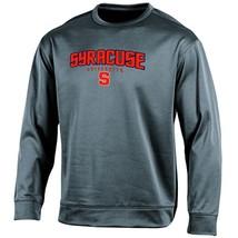 NCAA Syracuse Orange Adult Men Long sleeve Crew Neck Fle, Medium, Gray - $34.95