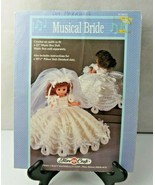 """Musical Bride to fit a 13"""" music box doll by Fibre Craft 1990 crochet pa... - $8.00"""