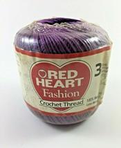 Red Heart Fashion Crochet Thread 3, Color Purple 125 Yards New - $6.95