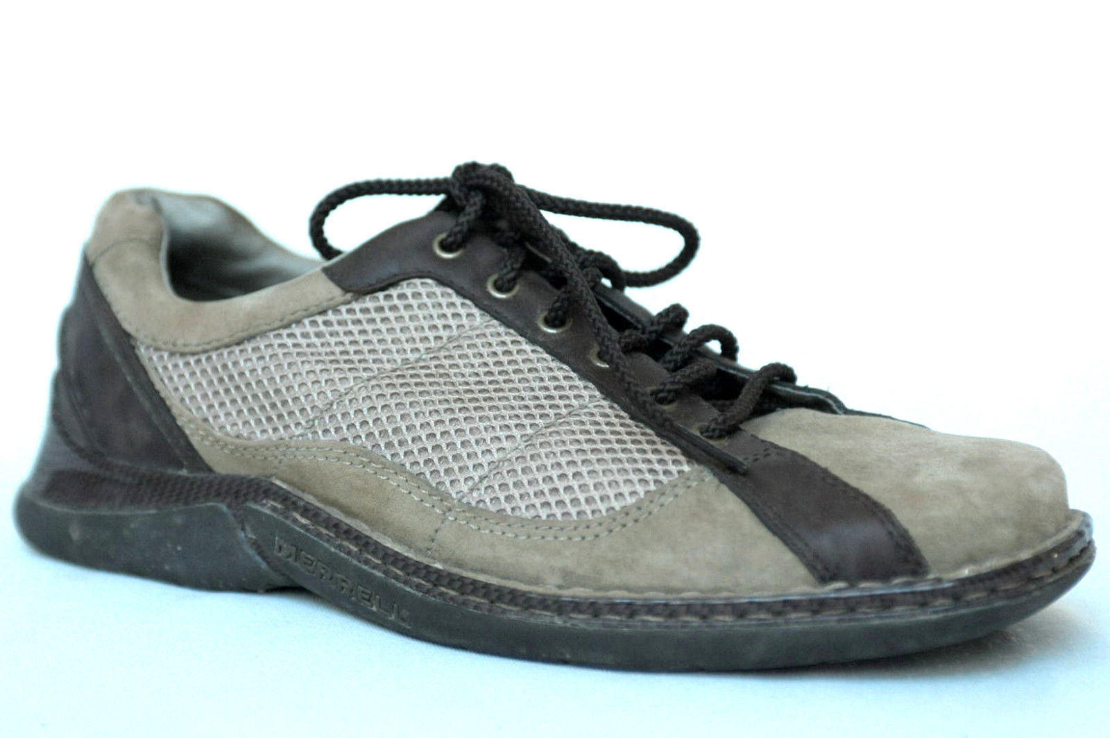 Men's MERRELL Conduit Desert Sage Suede/Mesh Lace Up Casual Oxford Shoes Size 9