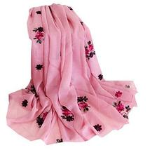 PANDA SUPERSTORE Shawl Embroidered Warm Scarf Scarves for Women Thick Dual-use S