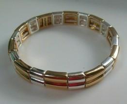 Signed Napier Two-tone Stretch Bracelet - $22.50