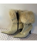 Branstand Cream Womens Ankle Calf Boots Booties with Fur Mexico Pointed ... - $11.20