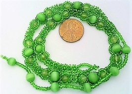 Green Peridot Beaded Daisy Chain Necklace - $16.99