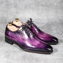 Handmade leather whole cut oxfords for men patina finish dress shoes for men - $159.99 - $219.99