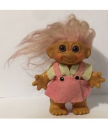 Troll Penny Bank Doll 6.5 Inch Pink Hair Vintage - $29.69