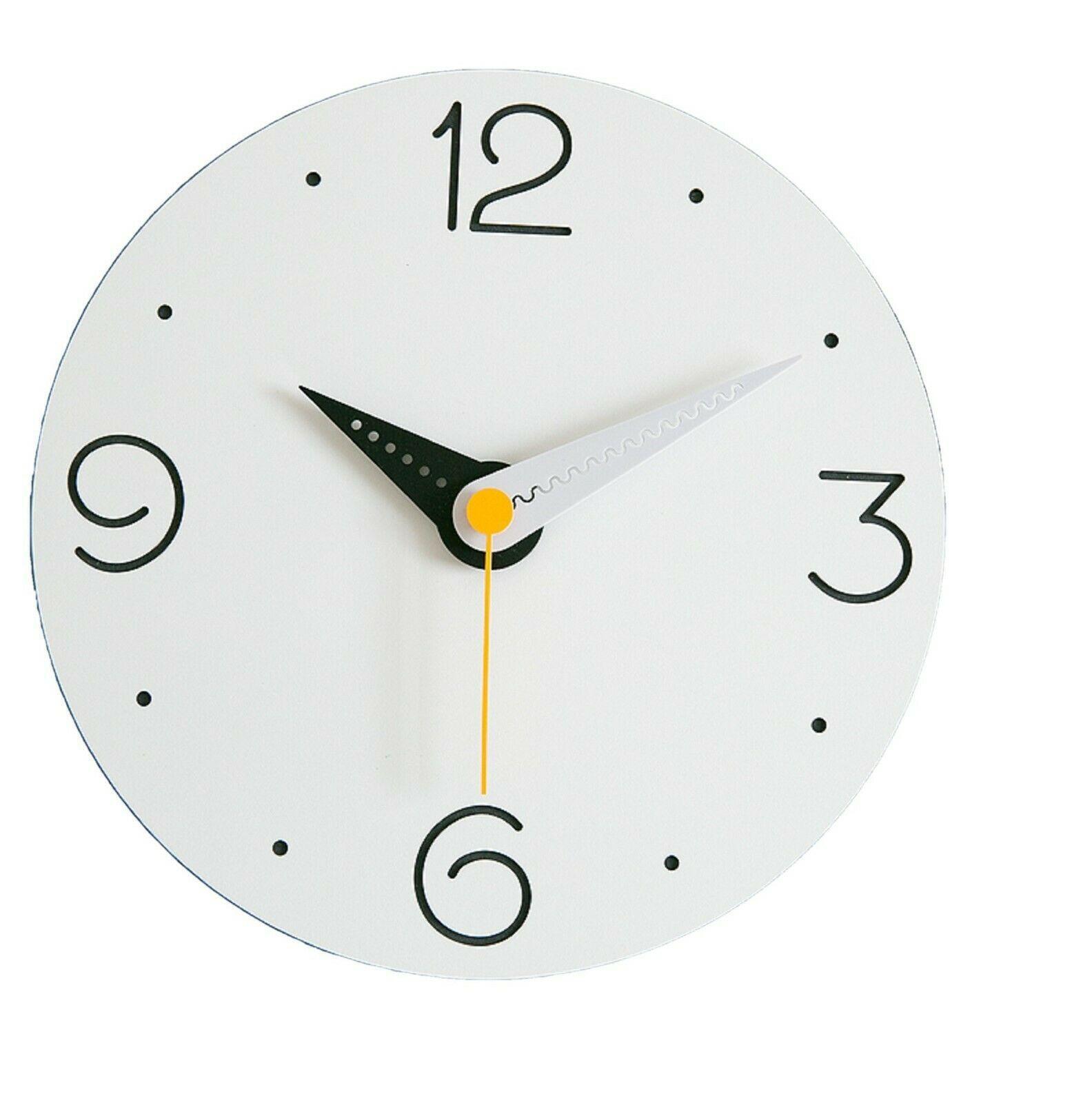 Moro Design Point Line Wall Clock non Ticking Silent Clock (Numeric Sky Blue)