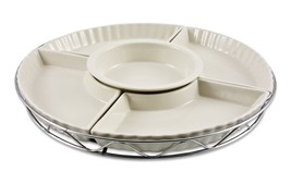 NEW IN THE BOX 5 SECTION PORCELAIN LAZY SUSAN W... - $56.09