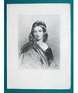 YOUNG BEAUTY Shakespeare's Rich Intelligent Heiress Portia - Antique Print - $12.60
