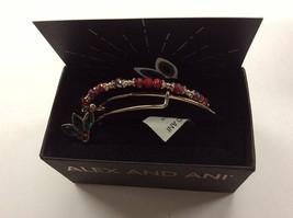 Alex and Ani Crystal Holly Set of 2 Bangle Bracelet Shiny Rose NWTBC - $53.45