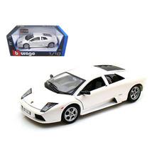 Lamborghini Murcielago Pearl White 1/18 Diecast Car Model by Bburago 12022w - $51.45