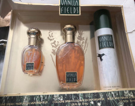 Vanilla Fields 3 Piece Gift Set .375 Oz and 1 .25 Oz / cologne & 2.5 Body  Spray - $44.84