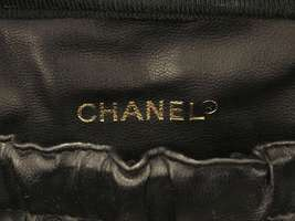 CHANEL Vanity Bag Caviar Leather Black Cosmetic Pouch A01997 Italy Authentic image 10