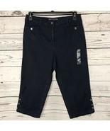 Karen Scott Womens SZ 8 Capris Denim Elastic Comfort Waist Pockets Stret... - $17.79