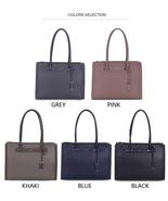 DAVIDJONES Ladies Tote Bags Fashion Solid Handbag FREE Shipping Worldwide. - $76.81