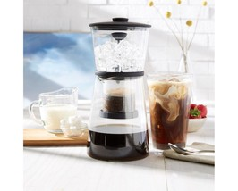 Refinery - Coffee Cold Slow-Drip Brewer Glass and Silicone 17 oz 500ml 1... - $9.89
