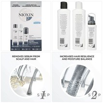 Nioxin System 2 Hair Care Kit for Natural Hair with Progressed Thinning,... - $75.00
