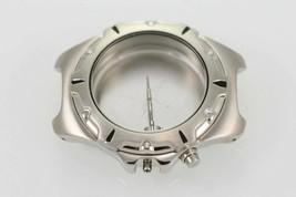 Brandneu Seiko Kinetisch Herren Silber Schwarz Uhr Gehäuse Edelstahl 5m62 - $30.06
