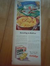 Vintage Kellogg's Corn Flakes Cereal Print Magazine Advertisement 1945 - $5.99