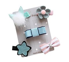 New Children's Hair Accessories 5 Pieces Lovely Little Girl's Hair Clip[D] - $16.94