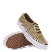 VANS AUTHENTIC GLITTER GOLD MICRO DOTS SHOES MENS 3.5 WOMENS SZ 5 21.5CM... - $37.78