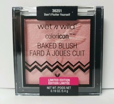 Wet N Wild Color Icon Baked Blush Don't Flutter Yourself 36251 Limited Edition - $4.99