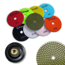 "KENT 10pcs WET 5"" Premium Quality 3mm Thick Diamond Polishing Pads 5/8-11 Holder - $109.20"