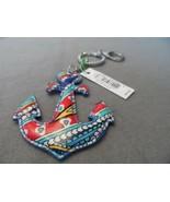 Vera Bradley Marina Paisley Seashore Anchor keychain NWT  - $15.00