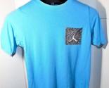 Michael Jordan Fly Pocket T Shirt Blue Cotton Basketball L