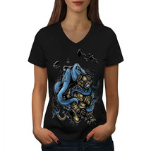 Octopus Horror Monster Shirt  Women V-Neck T-shirt - $12.99+