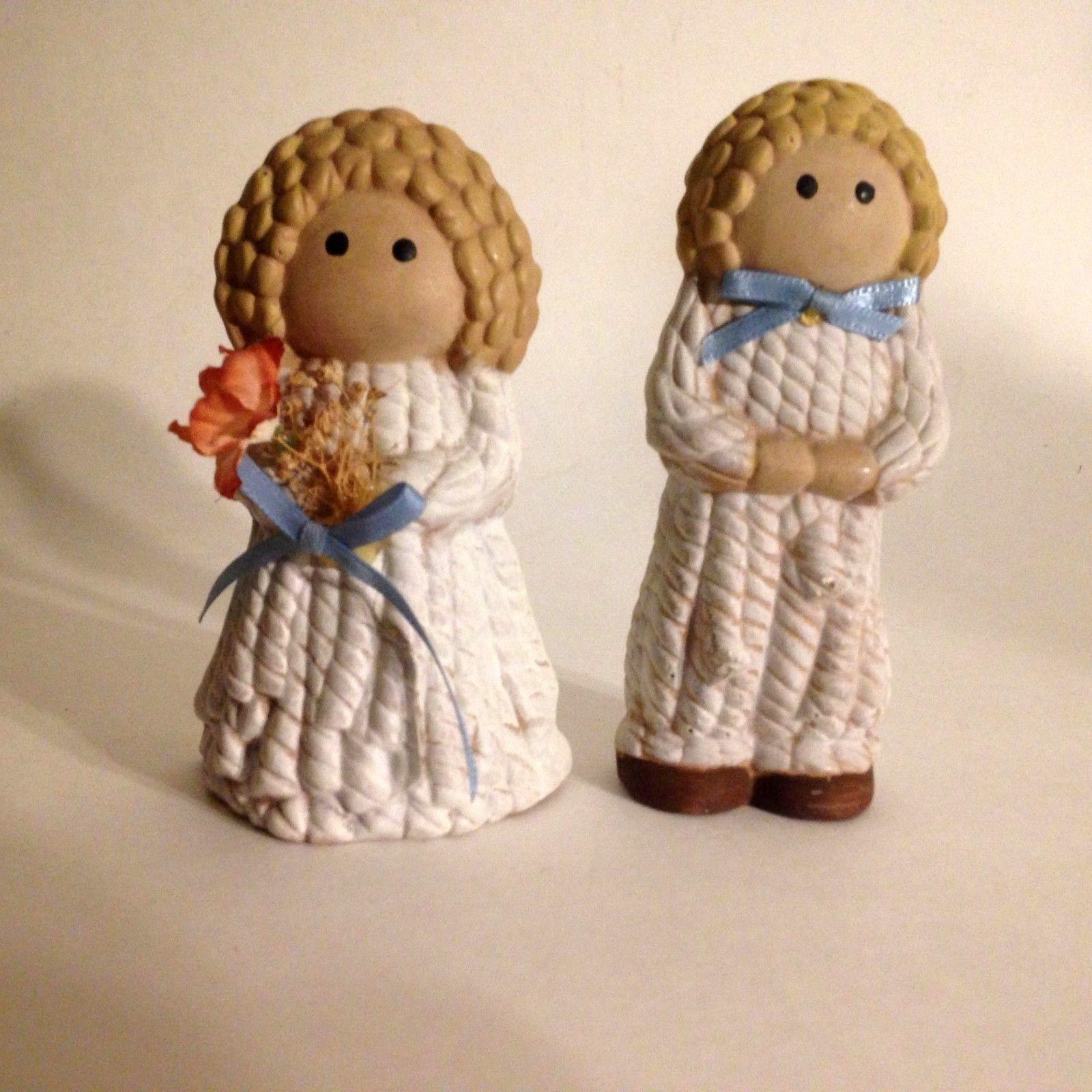 "Vintage Ceramic Boy And Girl Figurine 4""  Tall"