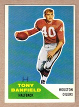 1960 Fleer #45 Tony Banfield Houston Oilers AFL 1st season/Oklahoma Stat... - $6.64